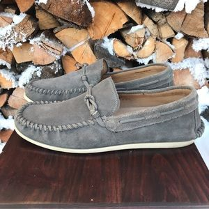 John Varvatos USA Leather Driving Moc 10 Gray